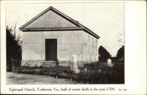 Yorktown VA Episcopal Church c1910 Postcard