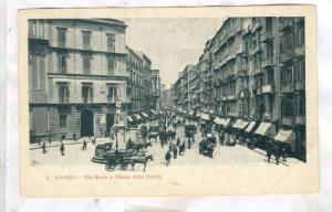 NAPOLI (Naples) , Via Roma e Piazza della Carita, ITALY, 1890s-1905
