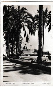 Post Card Spain Sitges Detaile dei Paseo