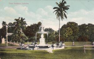 CALCUTTA, India, 1900-1910´s; Fountain, Eden Gardens