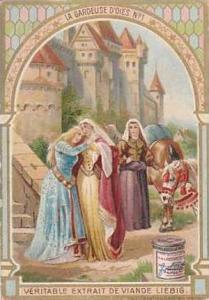 Liebig Vintage Trade Card S783 The Goose Girel No 1  La Gardeuse D'Oies