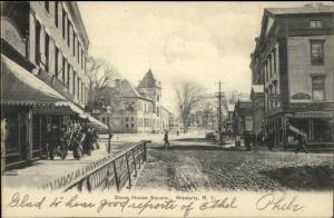 Westerly RI Dixon House Square c1910 Postcard