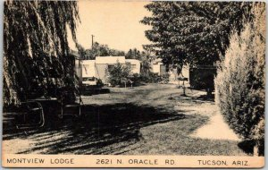 Tucson, Arizona Postcard MONTVIEW LODGE - 2621 N. Oracle Rd. Artvue c1940s