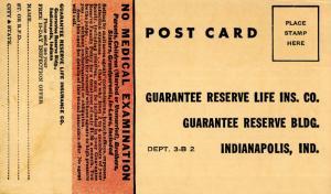 Advertisement - Guarantee Reserve Life Insurance Co., Indianapolis, Indiana