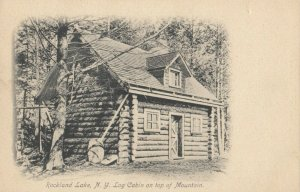ROCKLAND LAKE , New York, 1901-07 ; Log Cabin
