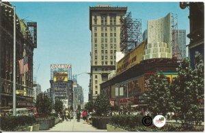 New York City Time Square Street Scene Vintage Postcard New York streets