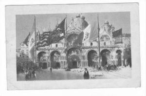 Flags flying, St Marcus Plaza, Venezia, Italy, PU 1920