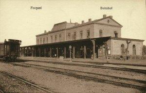 romania, FOCȘANI, Gara, Railway Station (1910s) Postcard