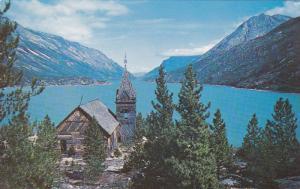 LAKE BENNETT, Famous old church incomplete, White Pass & Yukon R. R., Yukon, ...
