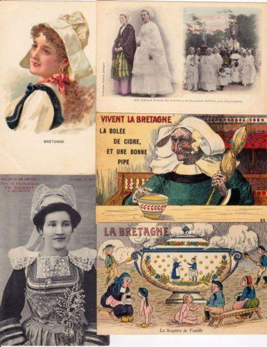 BRETAGNE FOLKLORE 319 Cartes Postales 1900-1940 (L3125)