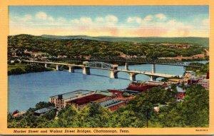 Tennessee Chattanooga Market Street and Walnut Street Bridges Curteich