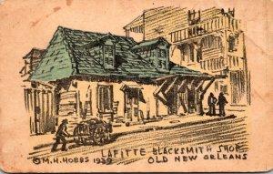 Louisiana New Orleans Lafitte Blacksmith Shop 1951