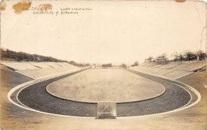 G77/ Fayetteville Arkansas RPPC Postcard c1920s Football Stadium Construction