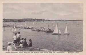 Massachusetts Rockport Harbor Entrance Sandy Bay And The Pigeon Cove Shore Fr...