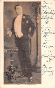Opera, Theater Post Card Joseph Kilgour Includes Autograph Unused