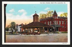 Old Slave Market Louisville Georgia Unused c1920s