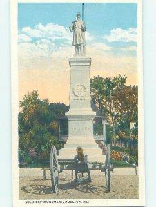 W-border MONUMENT SCENE Houlton - Near Presque Isle Maine ME AE7804