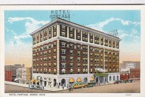 Ohio Akron Hotel Portage Curteich sk5136