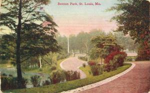 Benton Park St Louis Missouri C-1910 Postcard 2667