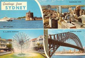 Sydney Australia El Alamein Fountain, Harbour Bridge Sydney El Alamein Founta...