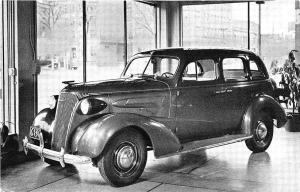 Ashland OH Parry-Spence-Cole Motor Sales 1937 Chevrolet Postcard