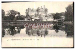 Postcard Old Chateau Pierrefonds and Lac
