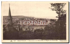 Old Postcard Panorama Deauville Deauville and Trouville & # 39Eglise