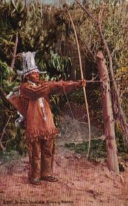 Sioux Indian Chief Crazy Horse Shooting Bow & Arrow