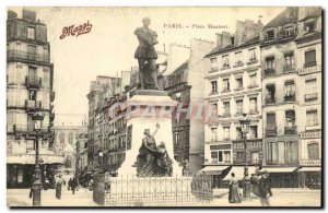 Old Postcard Paris Place Maubert Maggi Advertisement