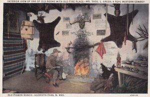 GLORIETA PASS, New Mexico, 1930-1940's; Interior View Of One Of Old Rooms Wit...