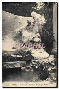 Old Postcard Paris Monument Alfred de Musset by Moncel
