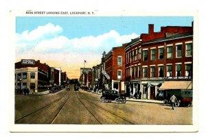 NY - Lockport. Main Street looking East