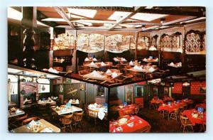 Postcard IL Decatur The Blue Mill Restaurant Cocktail Lounge 3 Interior Views L9