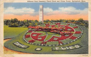 Hillcrest Park Cemetery Floral Clock and Chime Tower Springfield, MA, USA Unu...