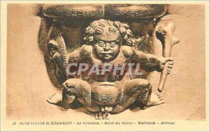 Postcard Old Saint Bertrand de Comminges Cathedral Detail of Mercy Crouching ...