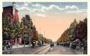 Hendersonville North Carolina Main Street Looking South Postcard JI658424