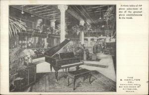 Pittsburgh PA Hamilton Co Artistic Lobby Piano Sales Room Music Store PC
