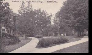 Wisconsin Ripon Enterance To The Campus Ripon College  Albertype
