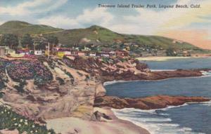 California Laguna Beach Treasure Island Trailer Park Curteich