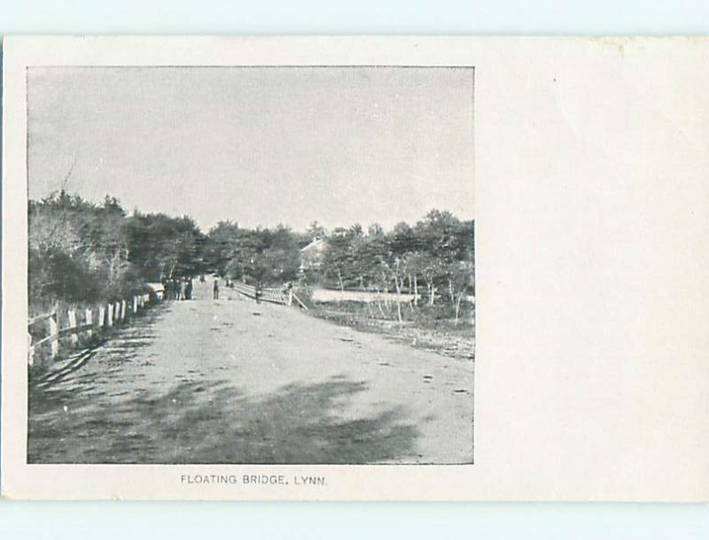 Unused Pre-1907 FLOATING BRIDGE Lynn Massachusetts MA t3249