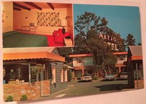 Mayjo Motel Seattle Washington Postcard RPPC Interior Exterior Vintage Cars