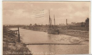 Somerset; The Bore On River Parrett, Bridgwater PPC 1935, To C Knowles, Rhondda