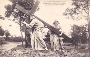 Calvaire De Pontchâteau, Simon, Le Cyreneen Aide Jesus A Porter Sa Croix, Fr...