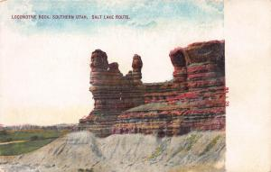 Locomotive Rock, Southern Utah, Salt Lake Route, Early Postcard, Unused
