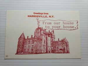Vintage Postcard Greetings from Harrisville New York 1988 unposted    675