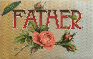 Large Letter To My Father 1911 Postcard