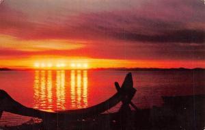 USA Midnight sun in Arctic Alaska Landscape
