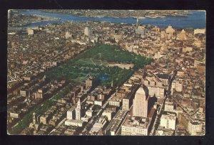 Boston, Massachusetts/MA Postcard, Aerial View Of The Common, Public Gardens