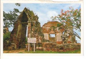 Postal 045329 : The ruins of War Rajburana Built by Thai-King Boronirana i Ay...