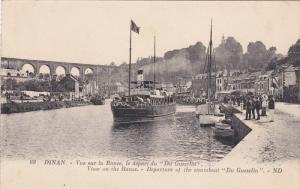 DINAN, Cote d´Or, France; Vue sur Rance, le depart du Du Gueselin, 00-10s